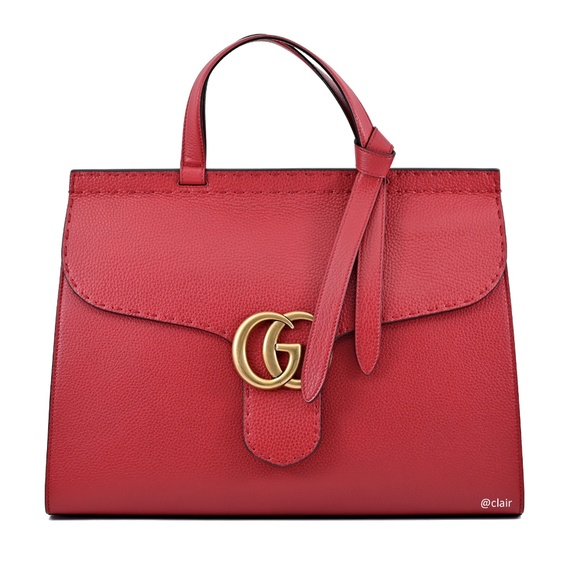 a6608030b Gucci Bags   Marmont Large Leather Top Handle Satchel   Poshmark